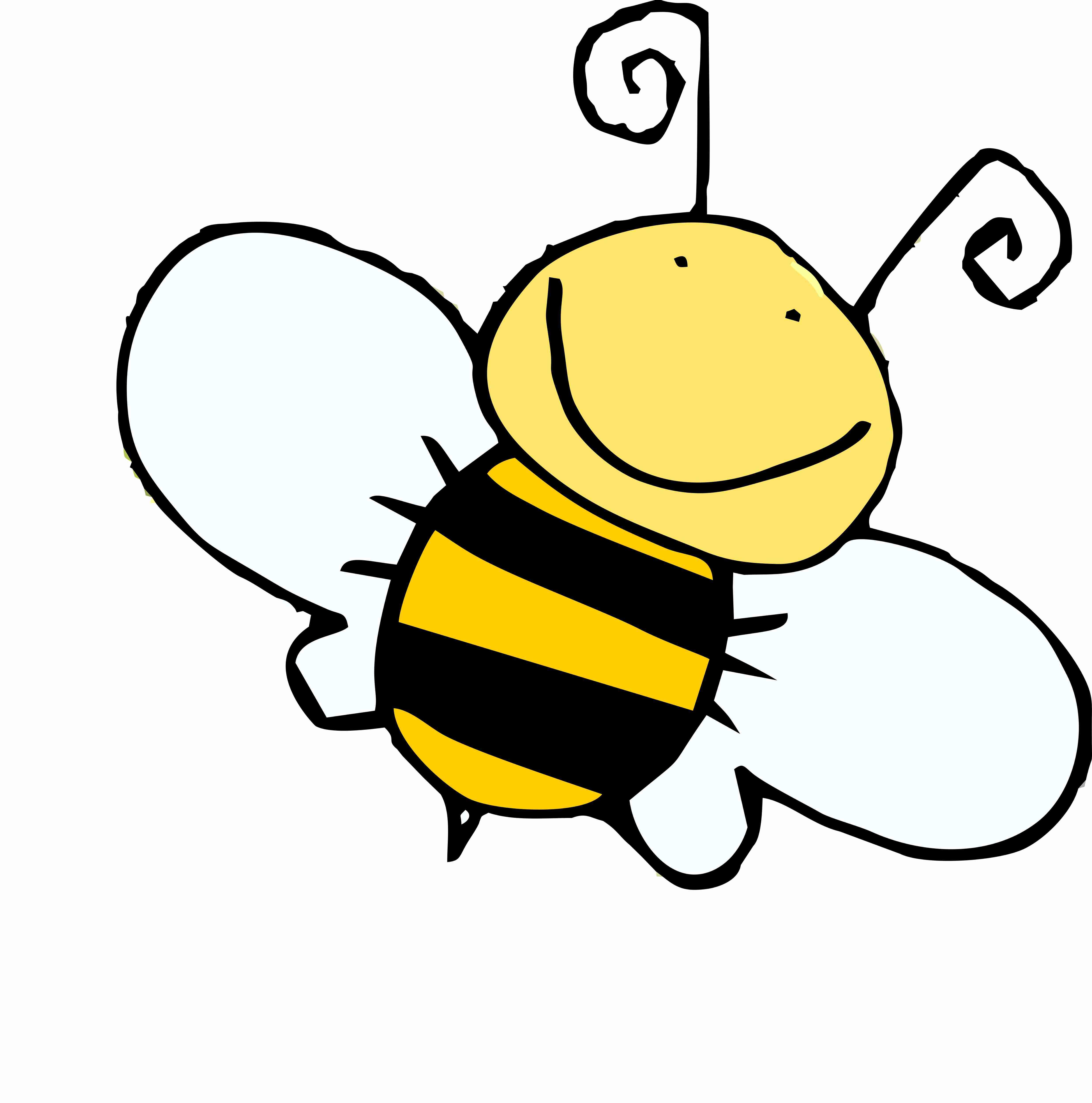 4948x5000 Cartoon Bee Clipart