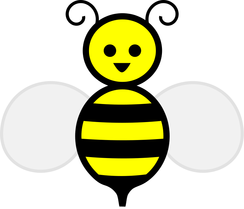 800x685 Bee Free Stock Photo Illustration Of A Cartoon Bee