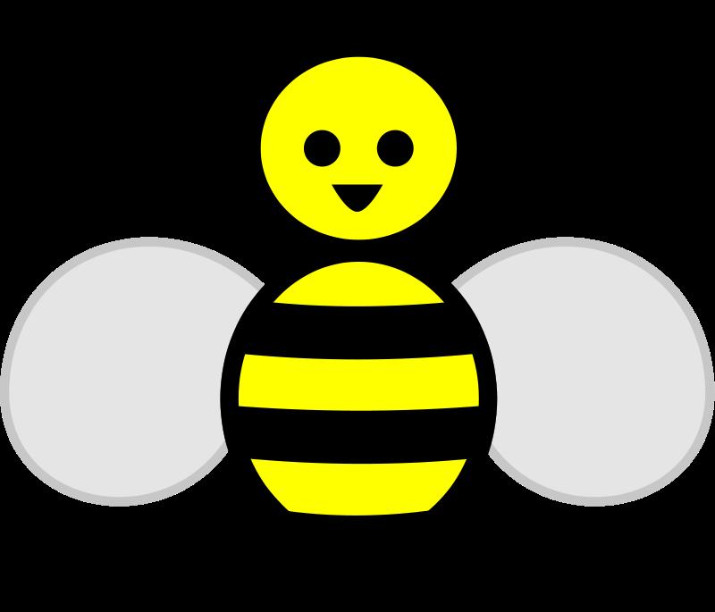 800x685 Bee Free Stock Photo Illustration of a cartoon bee