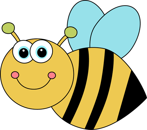 500x442 Cute Cartoon Bee Clip Art