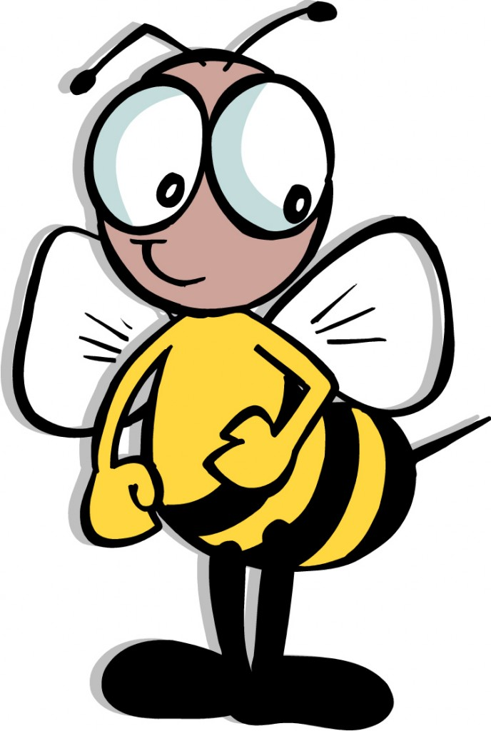 688x1024 Bee Clipart Black Background