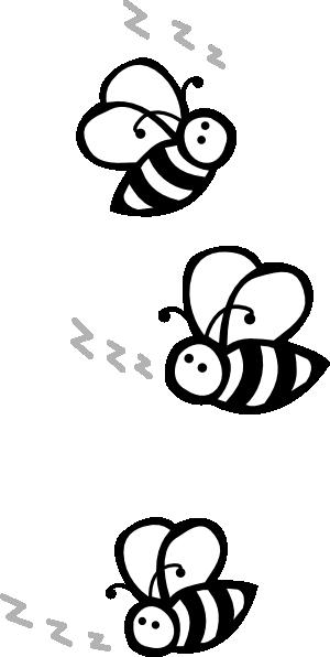 300x596 Bees Clip Art