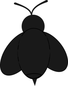 234x299 Black Bee Clip Art