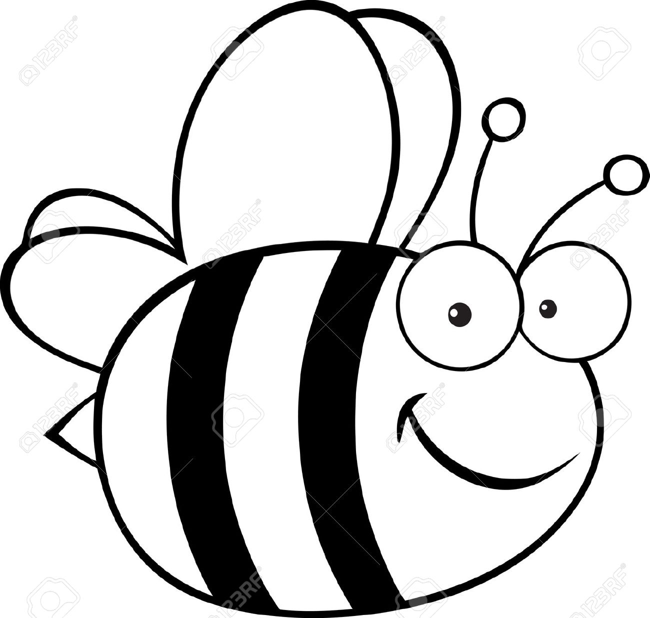 1300x1236 Bee Clipart Black And White