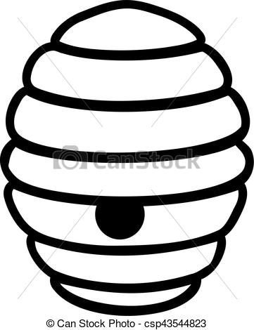 361x470 Bee Hive clipart black and white
