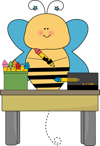 343x500 Bee Pencil Monitor Clip Art