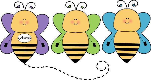600x319 Bee Caboose Clip Art