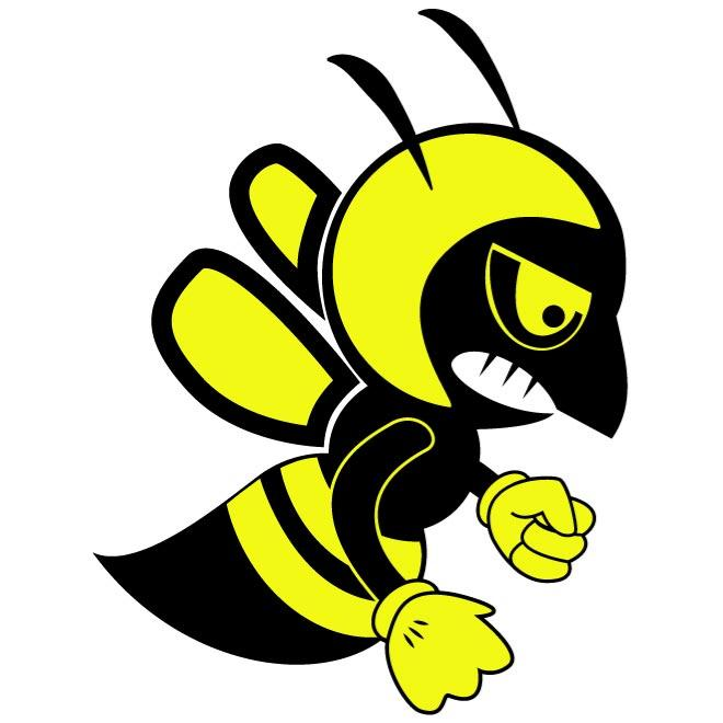 660x660 FIGHTING BEE VECTOR CLIP ART.eps free vectors UI Download