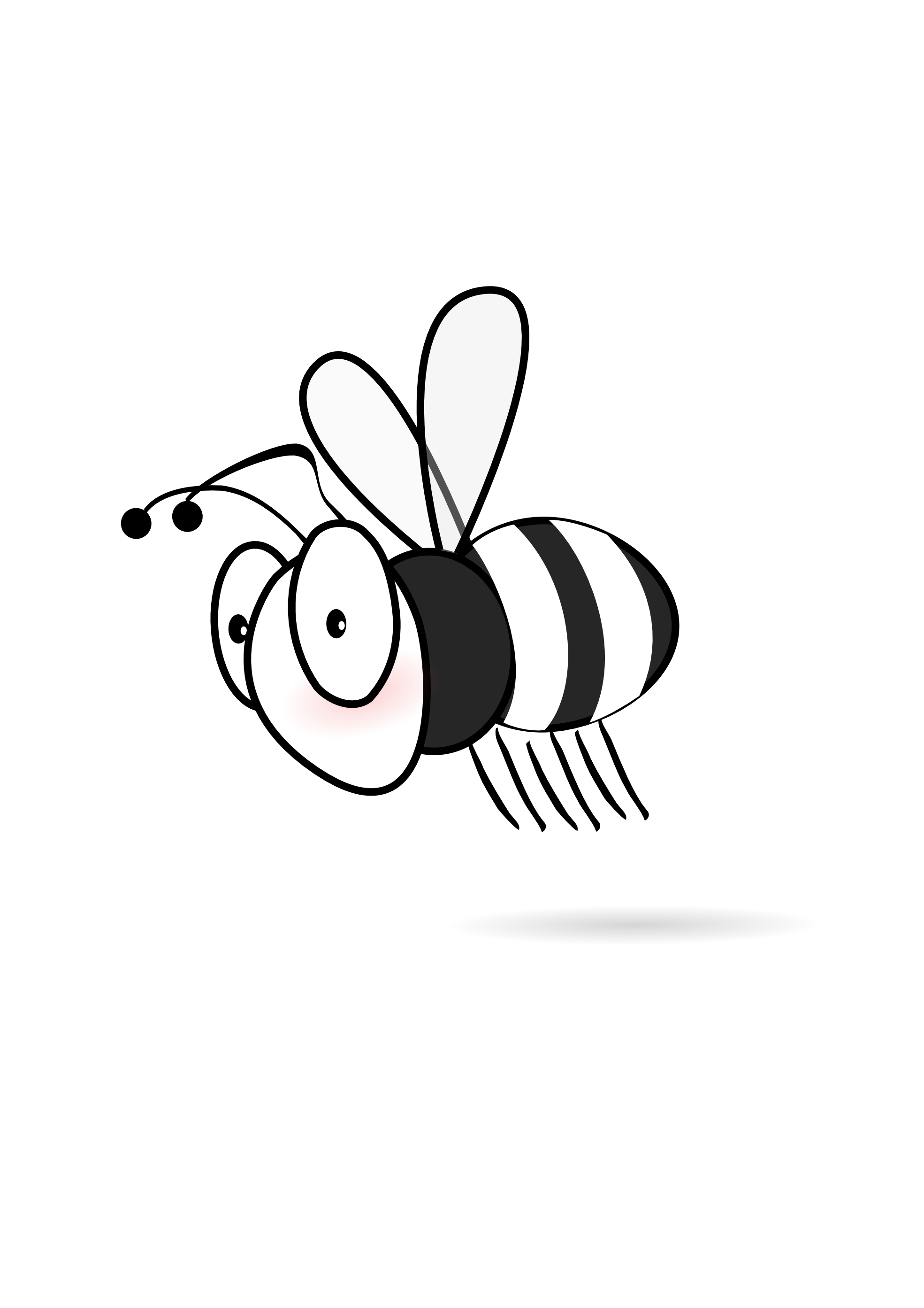1969x2785 Bee black and white bee clip art black and white free clipart