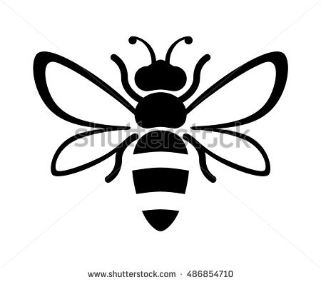 450x395 Drawn Bee Honey Bee
