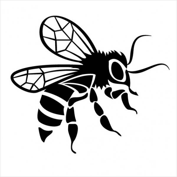 600x600 Bee Drawings