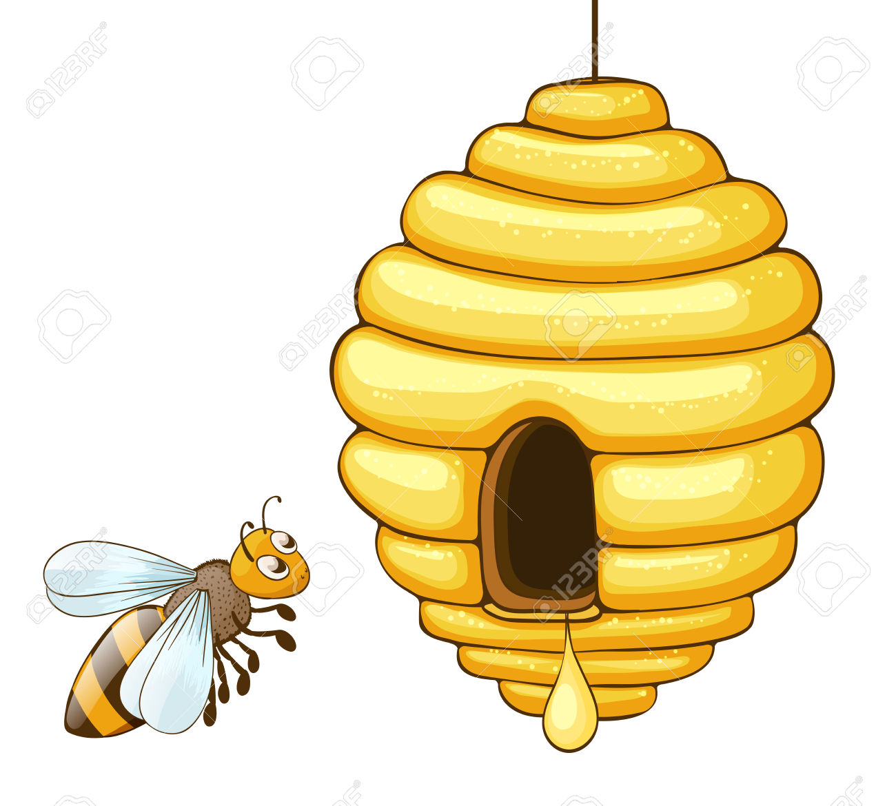 1300x1170 Bee Hive Clipart Flying