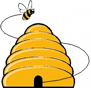 300x288 Beehive#39s a Buzzing Beehive, Bees and Clip art