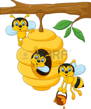 375x450 Branch clipart beehive