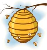 159x170 Clip Art Of Beehive K22194678