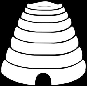 298x297 Plain Beehive Clip Art