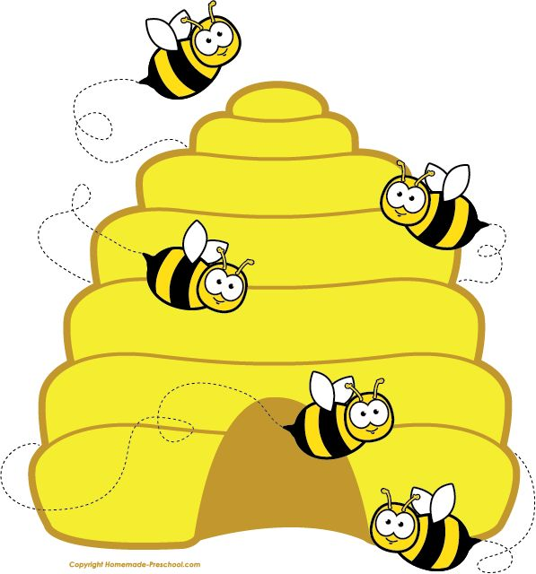 597x640 Preschool Bee Home Free Clipart Bee Clipart Beehive Bee Circle