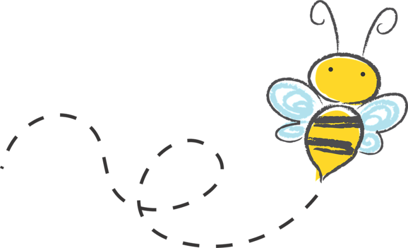 830x504 Bee Clipart Trail