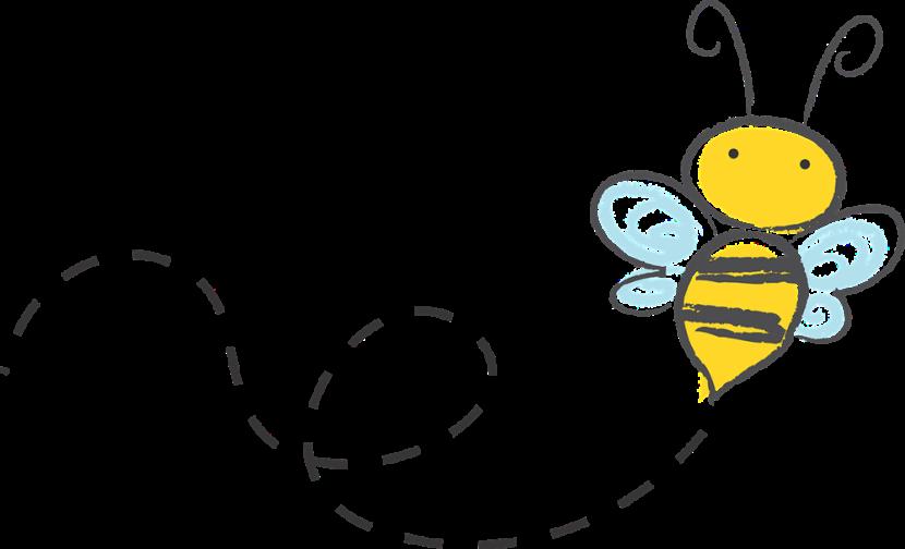 830x504 Bee Clipart Trail