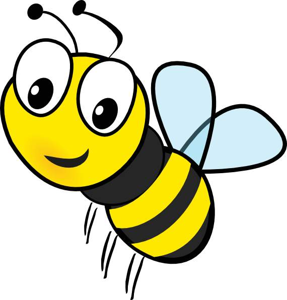 570x596 Clipart Bee