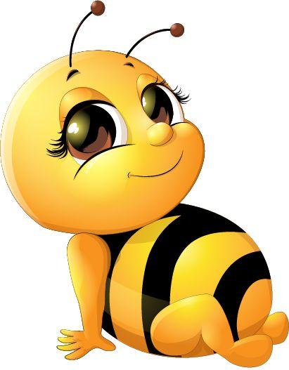 411x527 Bee Baby Cute Vector Set 03