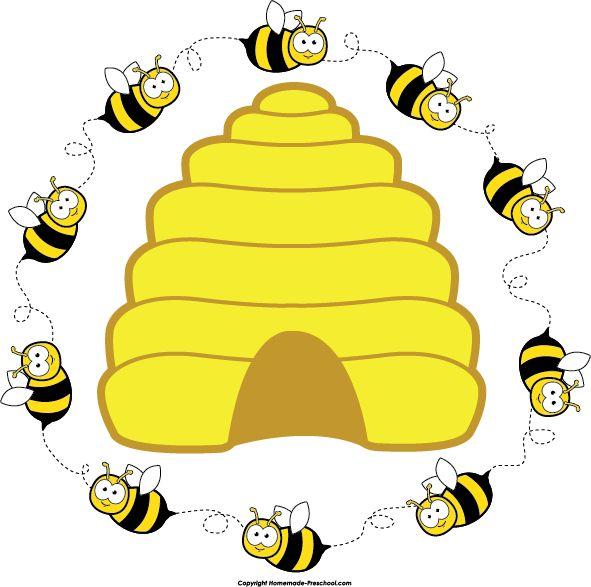 591x587 Printable bee clipart