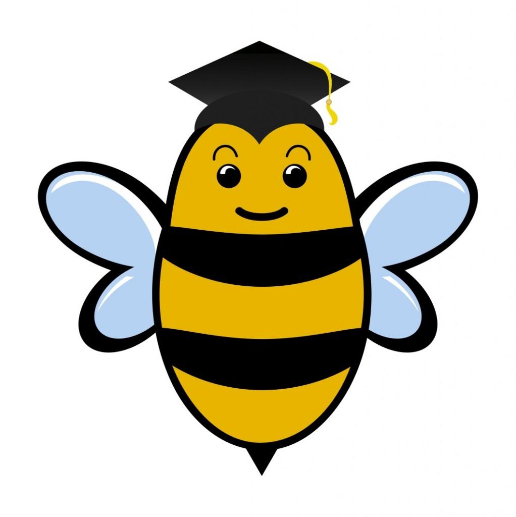 1022x1024 Cute bee clip art love bees cartoon more 2