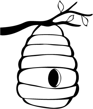 319x375 Beehive Bee Hive Outline Clipart Kid