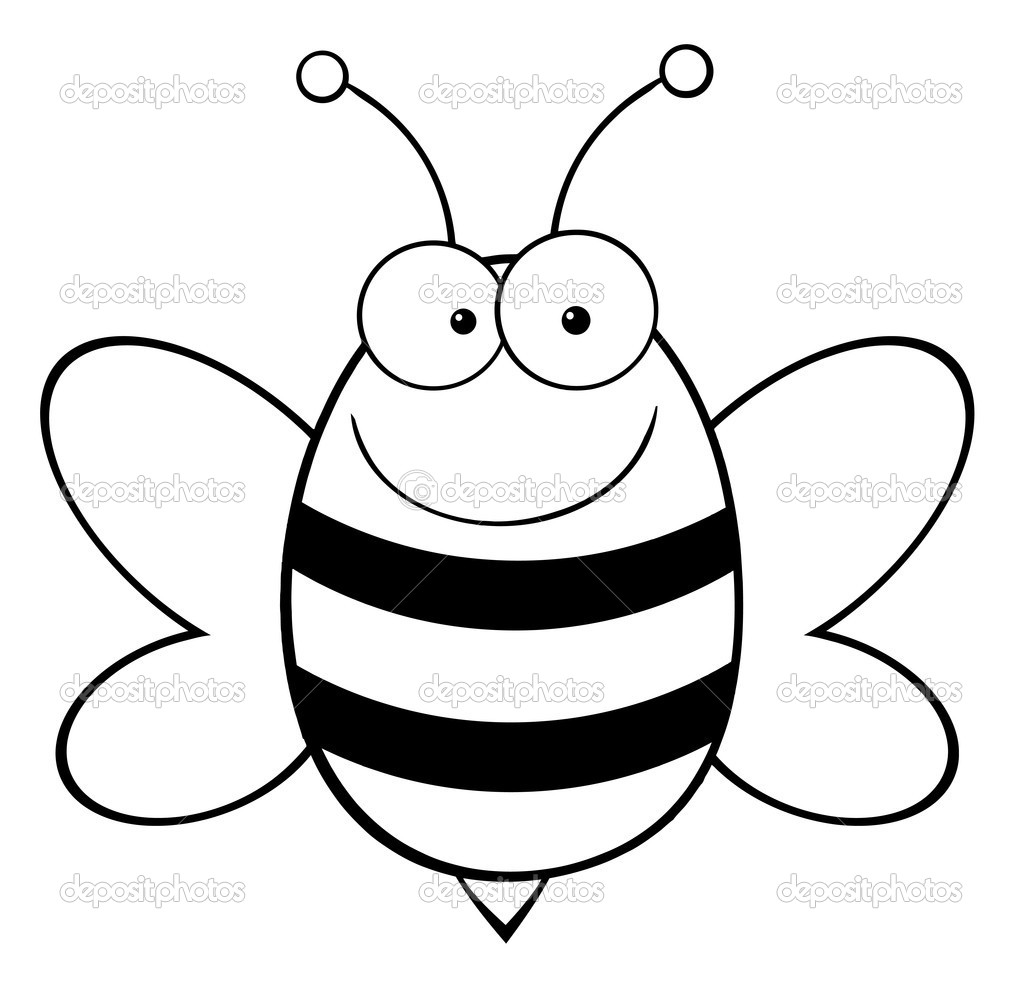 1023x983 Bumble Bee Outline Clip Art On Cute Line Printable Mask Template