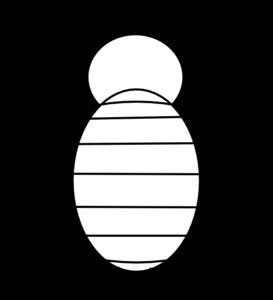 273x300 Bee Outline Clip Art