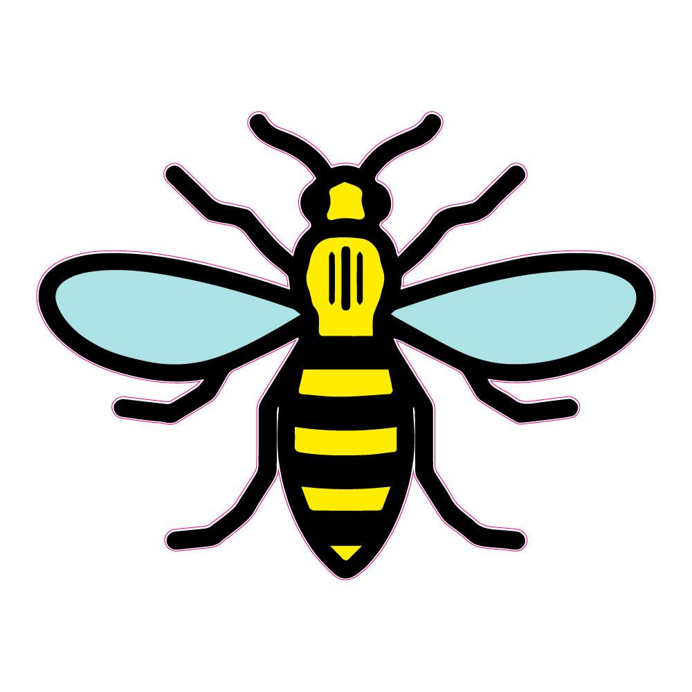 1000x1000 Manchester Worker Bee Outline Hoot Print Amp Design