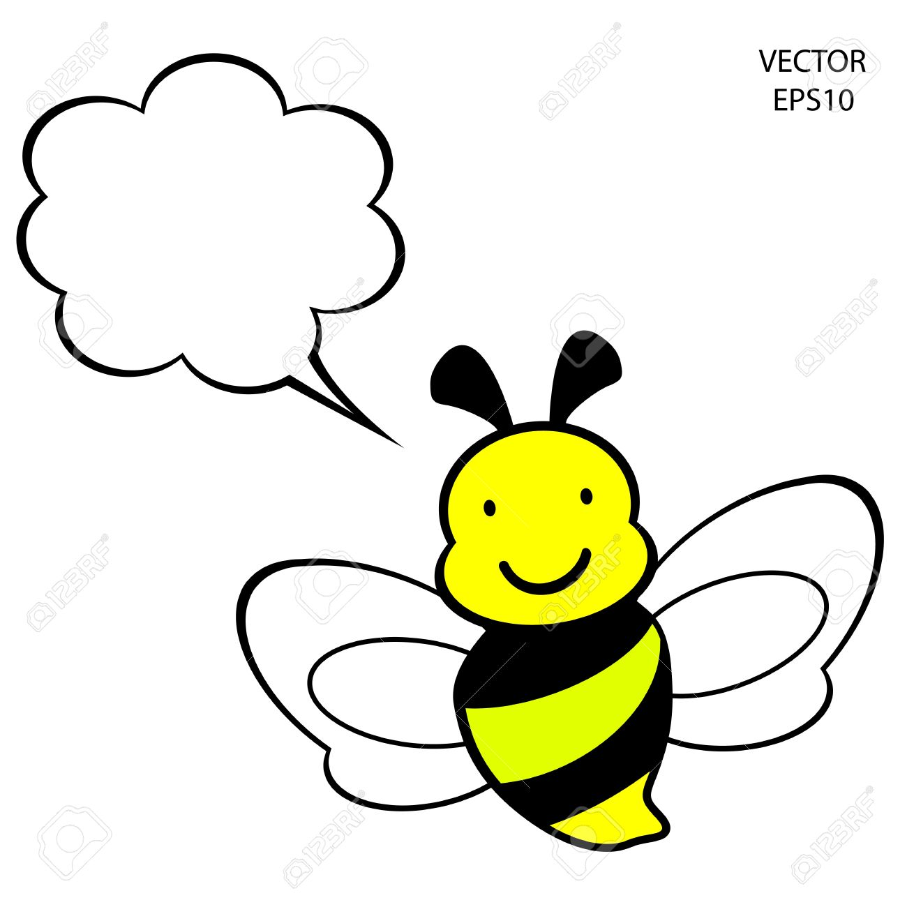 1300x1300 Bee Outline Clipart