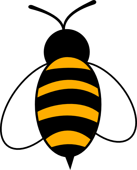 480x595 Bee Outline