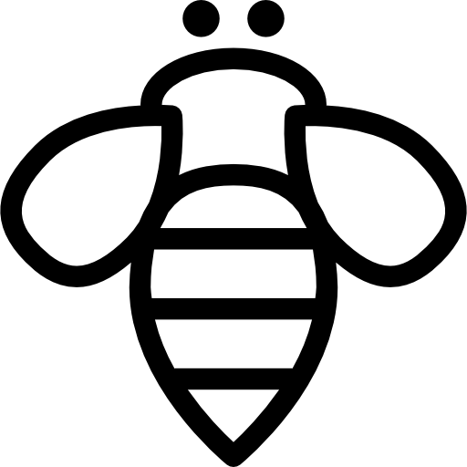 512x512 Bee Insect Outline