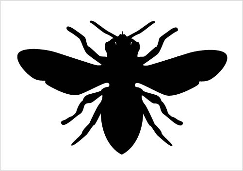 501x352 Bee Clipart Silhouette