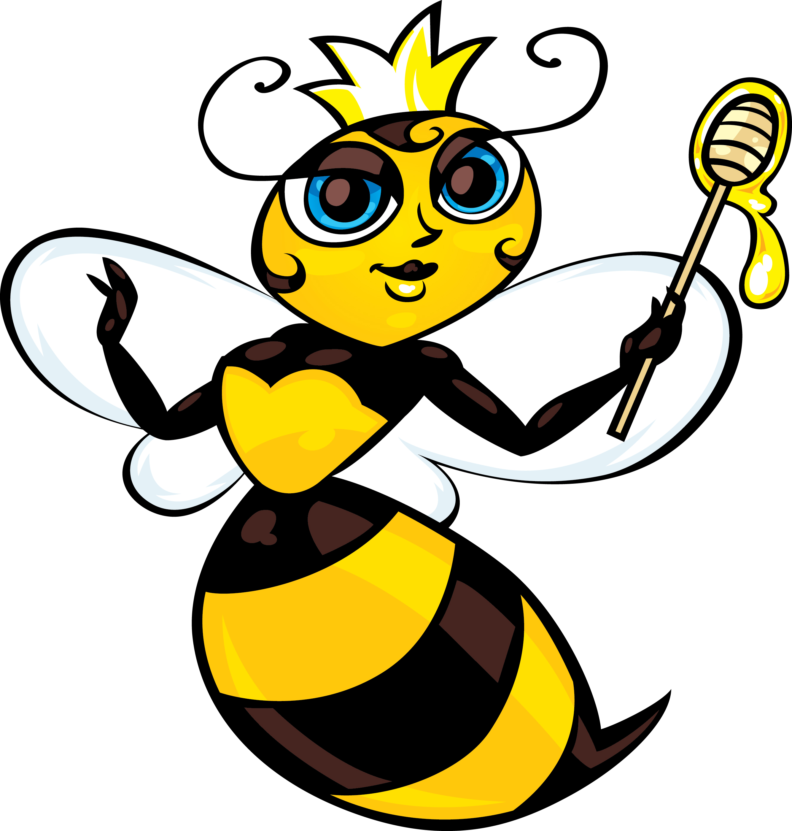 2670x2800 Queen Bee Clipart