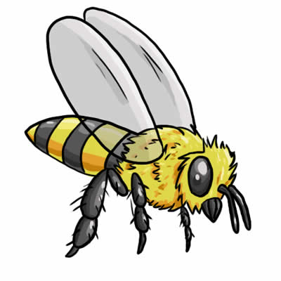 400x400 Realistic Clipart Bee