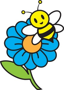 213x300 Sunflower And Bee Clipart