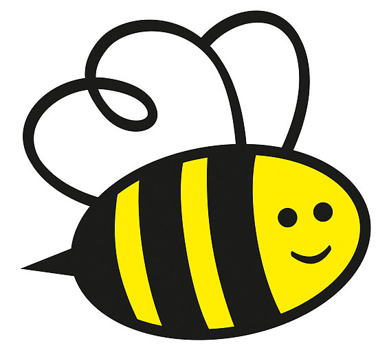 550x510 Bees Clipart Simple Cartoon