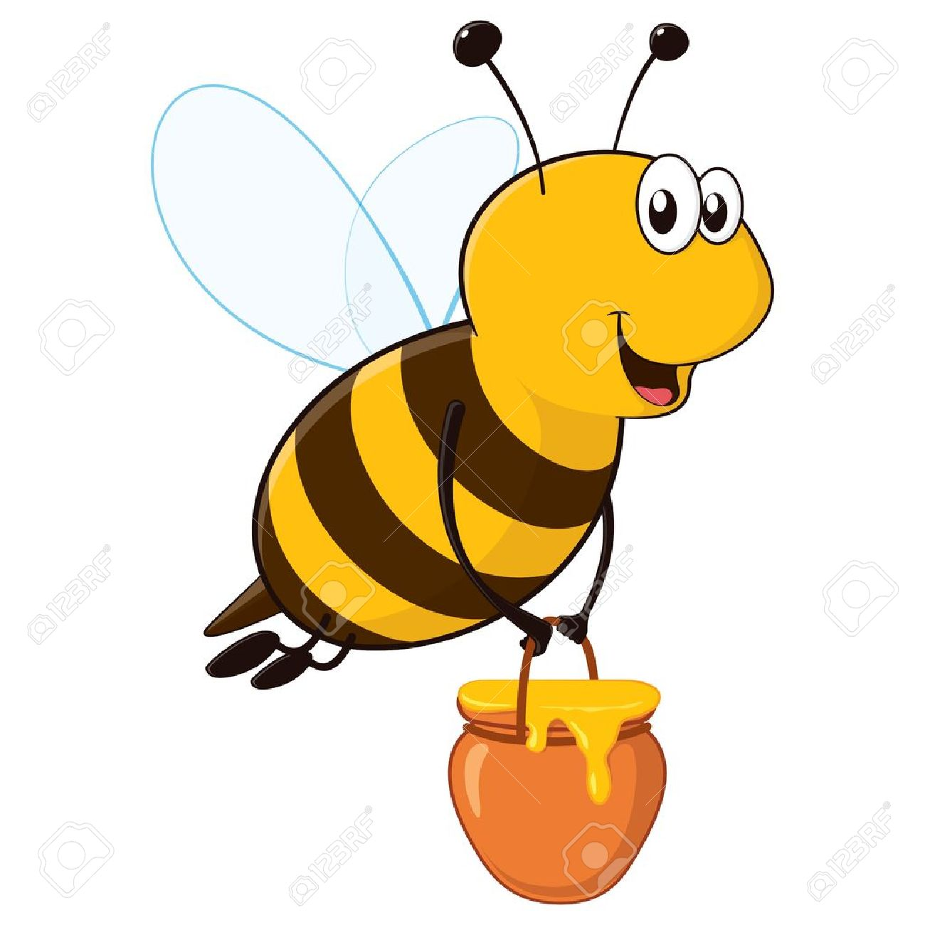 1300x1300 Flying Honey Bee Clipart