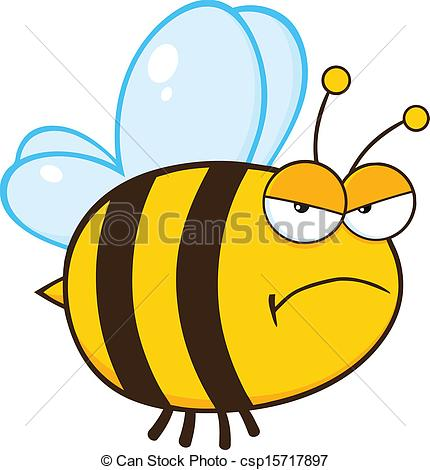 430x470 Mean Bee Clipart
