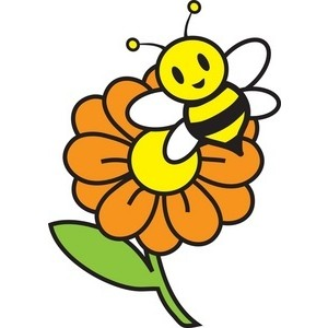 300x300 Bee Clipart Siloutee