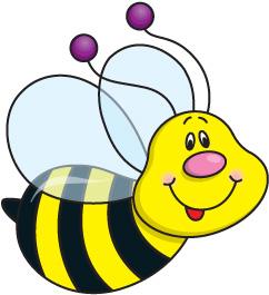 242x265 Wild Bee Clipart