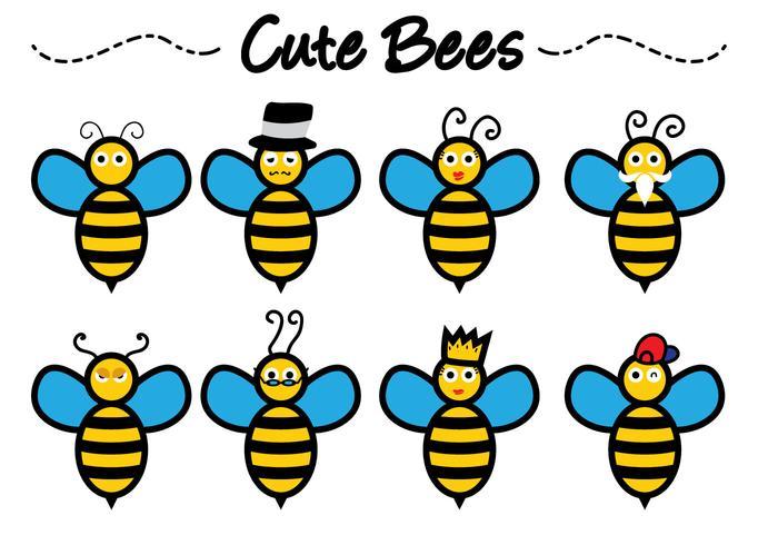 700x490 Cute Bee Free Vector Art