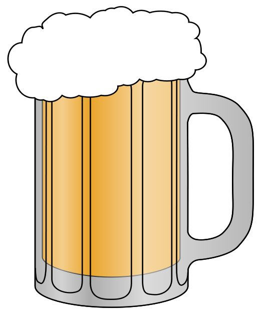 529x616 Beer Mug Clip Art Free Clipart