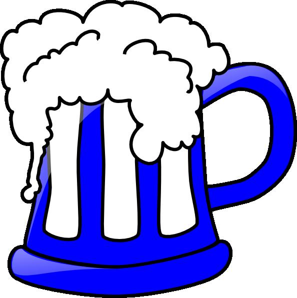 594x596 Blue Beer Mug Clip Art