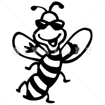 Bees Clipart Black And White