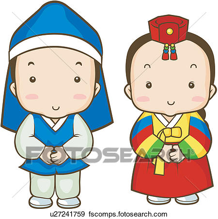 450x453 clip art of new year korean dress opening first day of the