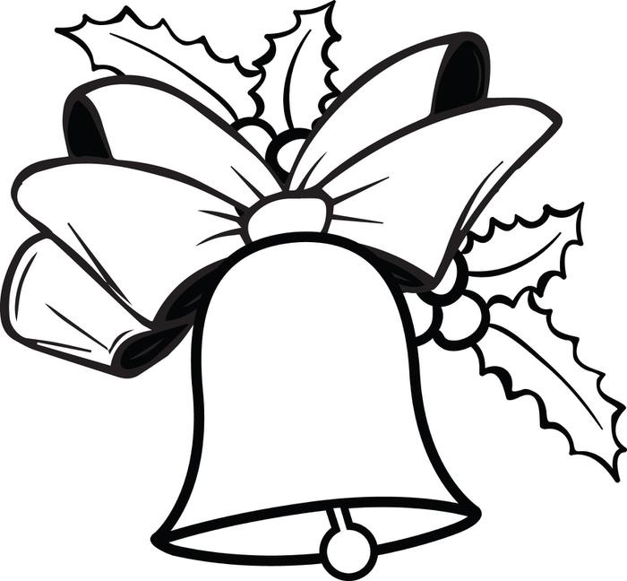 700x648 Bell Clipart Colouring Page