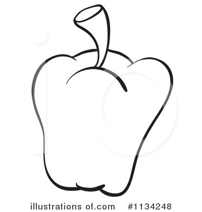 400x420 Pepper Clipart Outline